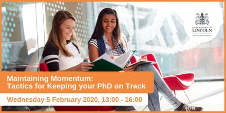 Maintaining momentum: Tactics for keeping your PhD on track  tickets