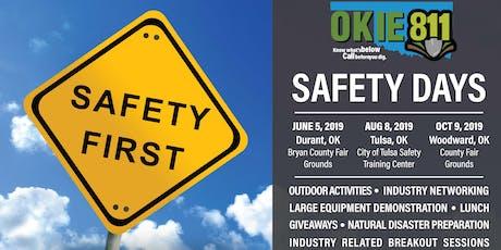 OKIE811 Safety Days - Woodward tickets