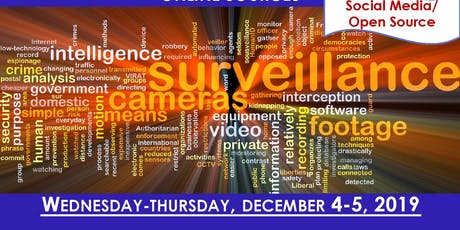 Social Media and Open Source for Criminal Investigations tickets