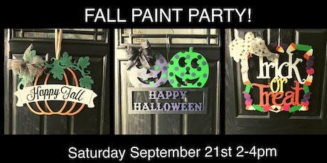 Fall Door Hanger Paint Party tickets