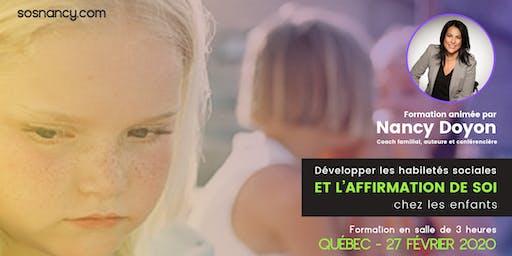 Formation : Habiletés sociales et affirmation de soi chez les enfants.