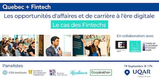 Opportunités d'affaires et de carrière à l'ère digitale: le cas des Fintech