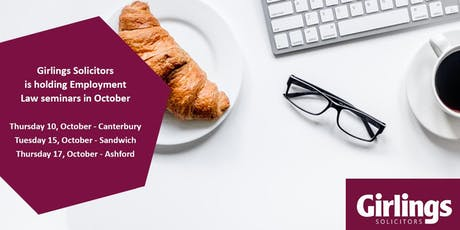 Girlings Solicitors Employment Law Breakfast Seminar - Sandwich tickets