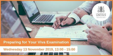 Preparing for the Viva Examination tickets