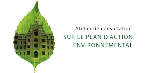 Atelier de consultation sur leplan d'action  environnemental