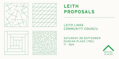 Leith Proposals: Leith Links Community Council tickets