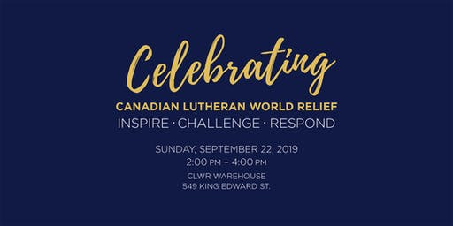 Celebrating Canadian Lutheran World Relief