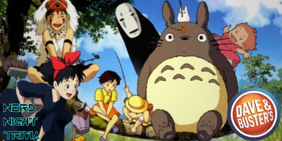 Studio Ghibli Trivia Night 2019 at Dave & Buster's Va Beach
