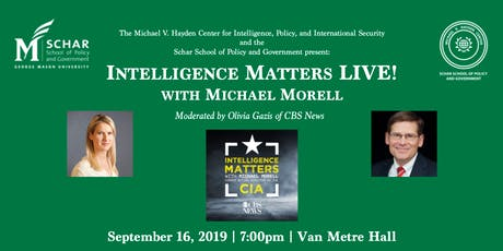 Intelligence Matters LIVE! with Michael Morell tickets