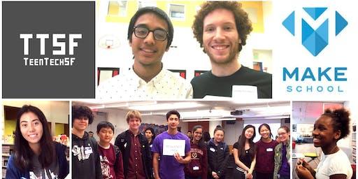 2019 TeenTechSF Civic Hackathon @MakeSchool