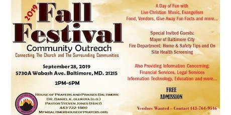 2019 Fall Festival Community Outreach tickets