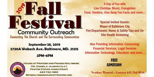 2019 Fall Festival Community Outreach