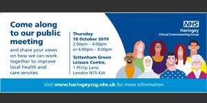 Haringey CCG Public Meeting - Thursday 10 October 2019