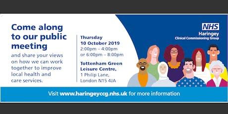 Haringey CCG Public Meeting - Thursday 10 October 2019 tickets