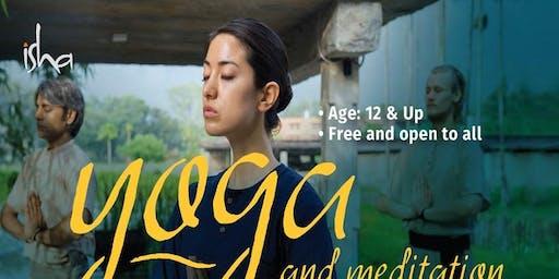 Free Yoga Day, and Meditation