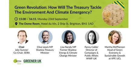 Green revolution: how will the Treasury tackle the environment & climate emergency? tickets