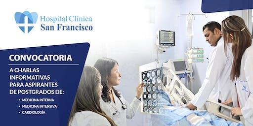 Charlas informativas para aspirantes de postgrados de Medicina