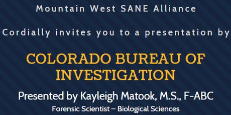 Presentation by the Colorado Bureau of Investigation tickets