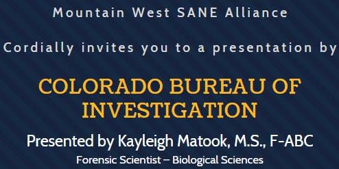 Presentation by the Colorado Bureau of Investigation