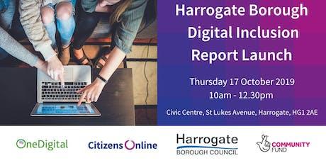 Harrogate District Digital Inclusion Report Launch tickets