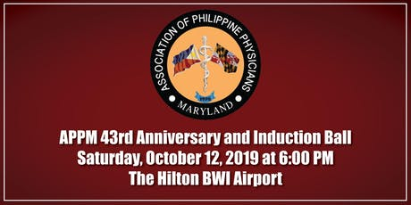 APPM 43rd Anniversary and Induction Ball tickets