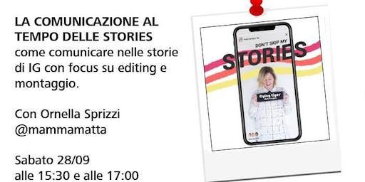 Workshop con Ornella Sprizzi di @mammamatta - La comunicazione al tempo delle stories