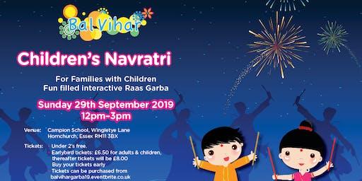 Bal Vihar Children's Garba 2019