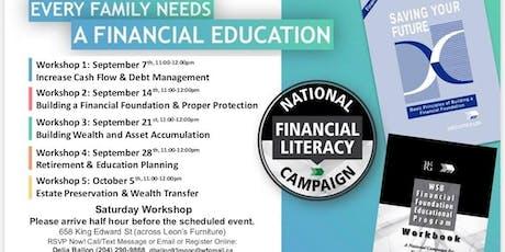 Financial Education Workshop - Saturday Workshop tickets