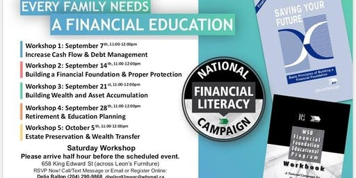 Financial Education Workshop - Saturday Workshop