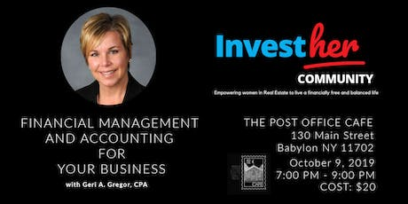 InvestHer - Financial Management and Accounting for your Business tickets