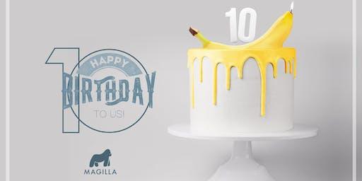 #10YearsOfYellow a Bologna: il party di Magilla per 10 anni di attività