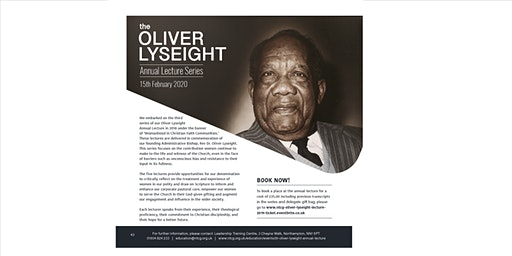 NTCG Oliver Lyseight Annual Lecture 2020