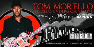 TOM MORELLO w/ 93PUNX @ The Pressroom