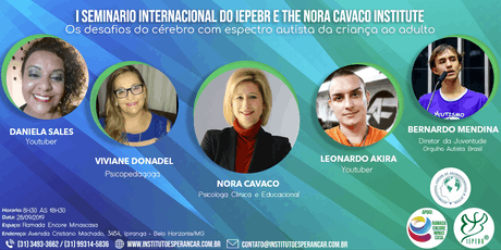 I SEMINÁRIO INTERNACIONAL DO IEPEBR E THE NORA CAVACO INSTITUTE  ingressos