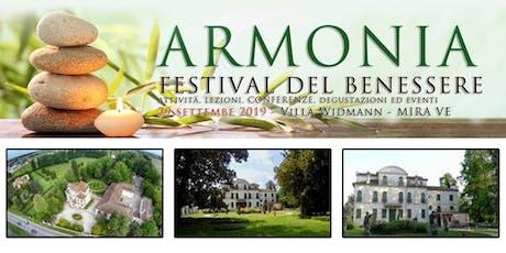 """Bagno di Gong ad """"Armonia - Festival del Benessere"""" biglietti"""