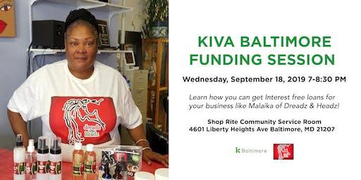 Kiva Baltimore Funding Session