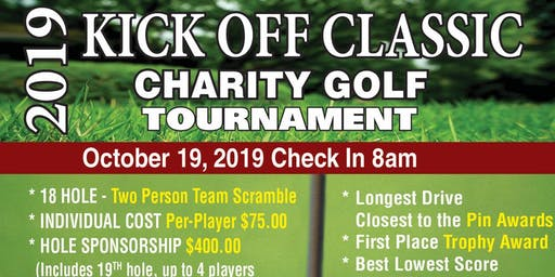 2019 KICK OFF CLASSIC CHARITY GOLF TOURNAMENT