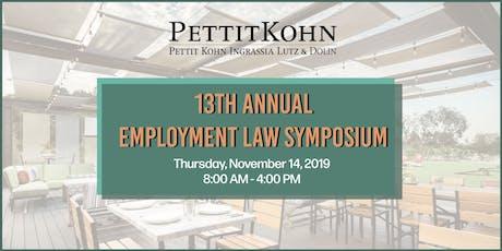 Pettit Kohn Ingrassia Lutz & Dolin's 13th Annual Employment Law Symposium tickets