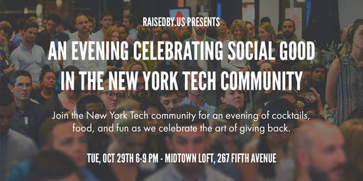 An Evening Celebrating Social Good In The NYC Tech Community - 2019