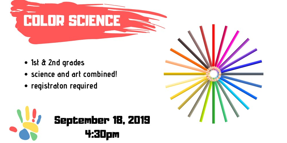 Color Science [1st-2nd] Registration, Wed, Sep 18, 2019 at 4