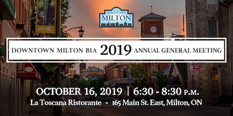 Downtown Milton 2019 Annual General Meeting tickets