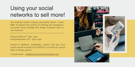 Masterclass  - Using your social networks to sell more! tickets