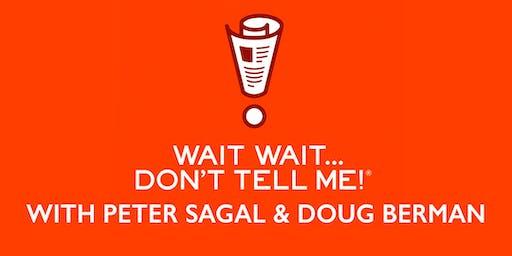 Wait, Wait … It's Peter Sagal and Doug Berman