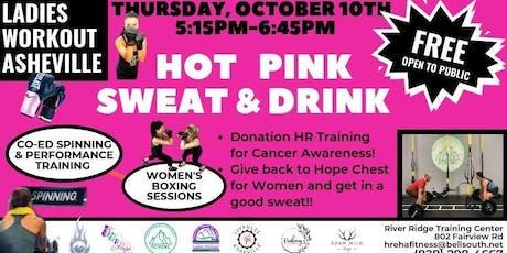 LWA Hot Pink Sweat & Drink tickets