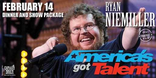 Valentines Dinner and Show with AGT's Star Comedian Ryan Niemiller
