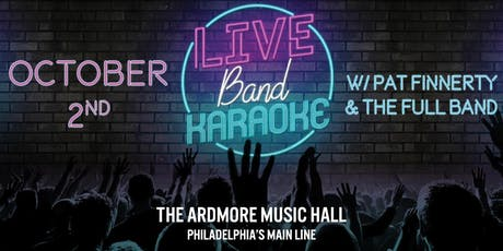 Live Band Karaoke w/ Pat Finnerty & The Full Band tickets