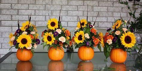 SOLD OUT Workshop! REAL Pumpkin Centerpieces!