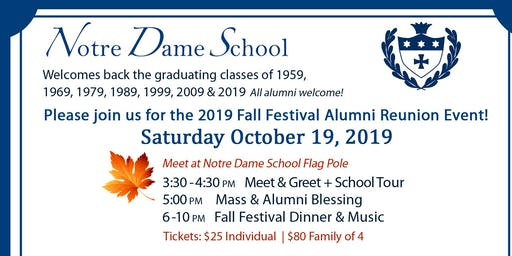 Notre Dame Fall Festival Dinner Tickets