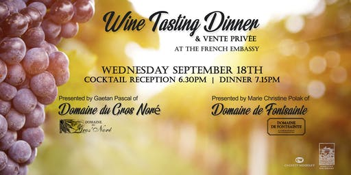 Wine Tasting Dinner at the Embassy of France