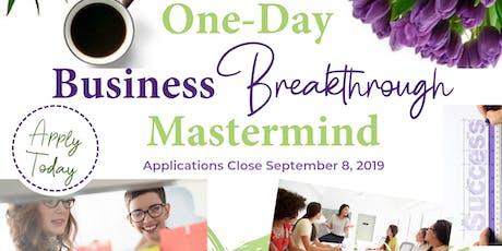 One-Day Business Breakthrough Mastermind tickets